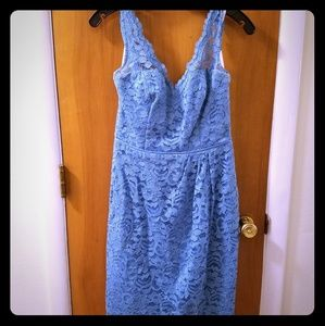 David's Bridal Dresses - Blue lace dress